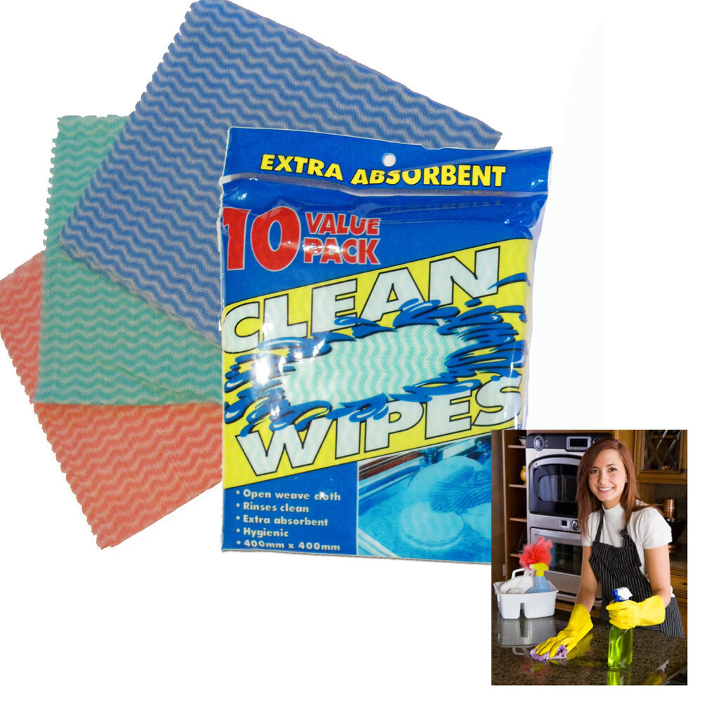 Kitchen Cleaning Wipes: 10pcs Pack Kitchen Clean Wipes Open Weave Clothes