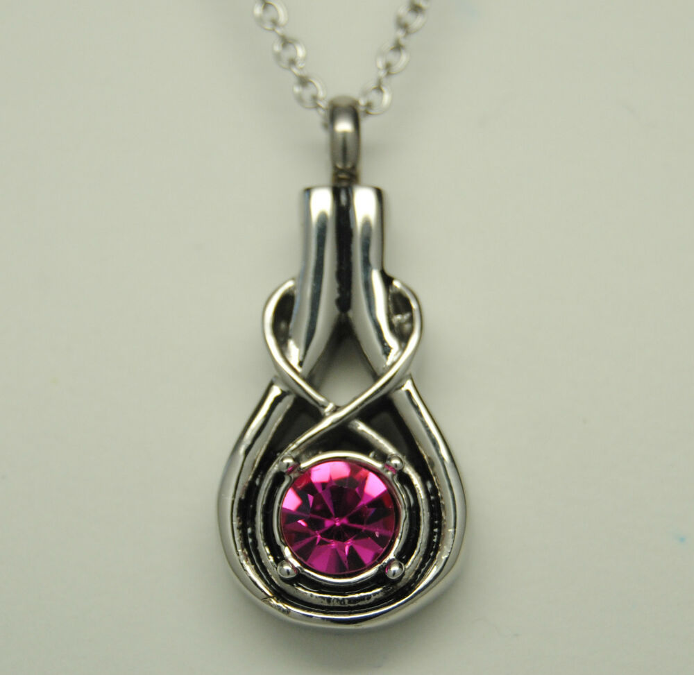 infinity knot cremation urn necklace pink cremation
