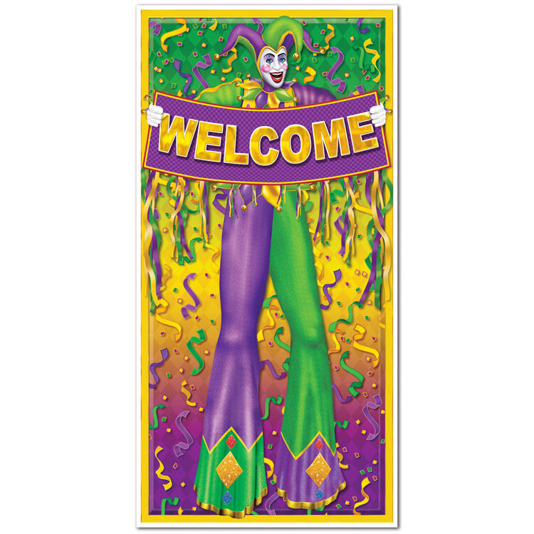 1 MARDI GRAS Fat Tuesday Party Decoration Prop WELCOME ...