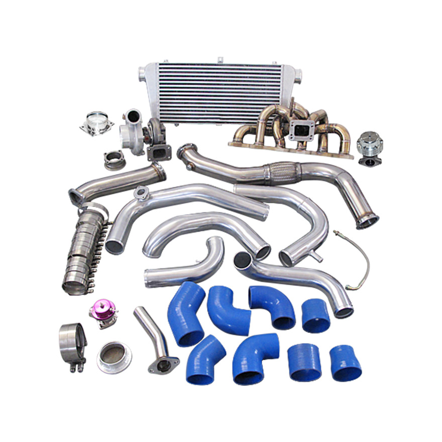 single gt35 turbo kit manifold downpipe for 240sx s13. Black Bedroom Furniture Sets. Home Design Ideas