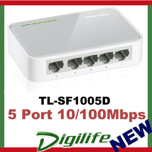 tp link tl sf1005d 5 port mini desktop switch hub 10 100m rj45 ports ebay. Black Bedroom Furniture Sets. Home Design Ideas