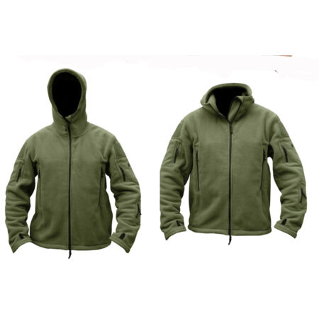 img-Mens Military Army Combat Recon Hoodie Fleece Hoodies Green Black Zip Jacket New
