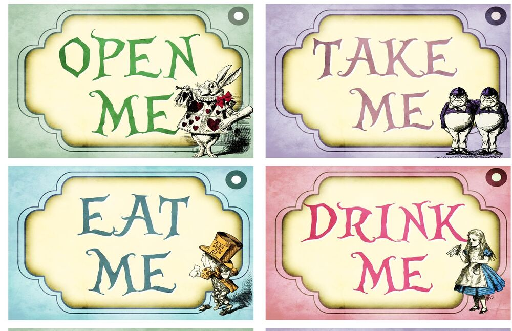 alice in wonderland free printables take me out