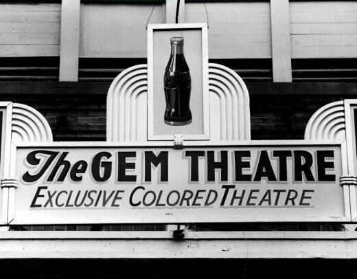 colored only theater photo large 11x14 waco