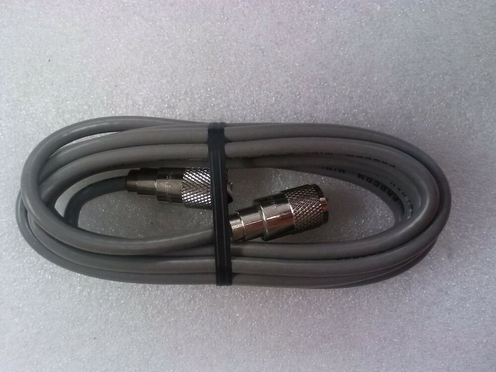 Rg 8x Coaxial Cable Jumper 12 Foot With Soldered Amphenol