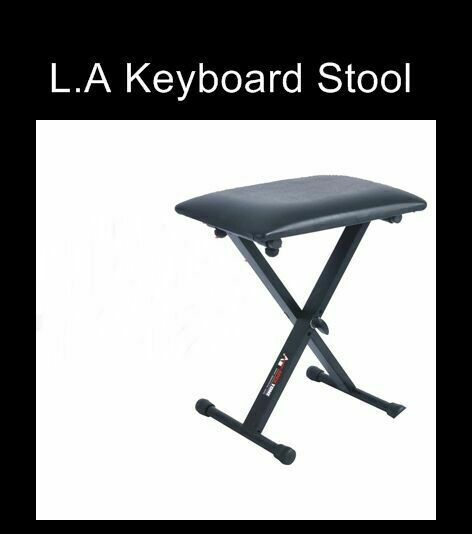 L A Stands Keyboard Piano Adjustable Folding Bench Stool