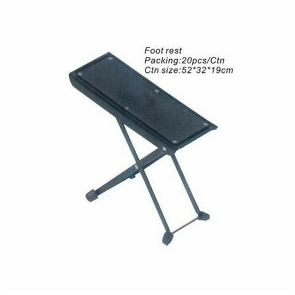l a stands guitar foot rest height and angle adjustment guitarist foot stand ebay. Black Bedroom Furniture Sets. Home Design Ideas