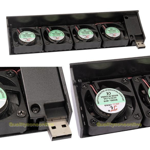Ps3 Cooling Fan : New usb quad mm fan fans cooling cooler for sony