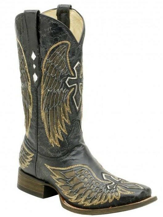 Corral Men S Black Cross And Wing Boot A1972 Ebay