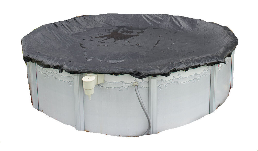 18 39 x 34 39 oval above ground pool mesh leaf winter cover - Above ground swimming pool covers ...