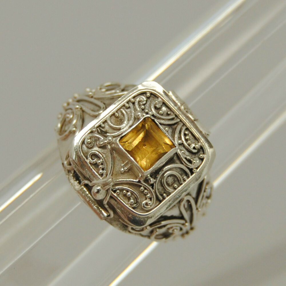 citrine cremation jewelry citrine urn ring silver