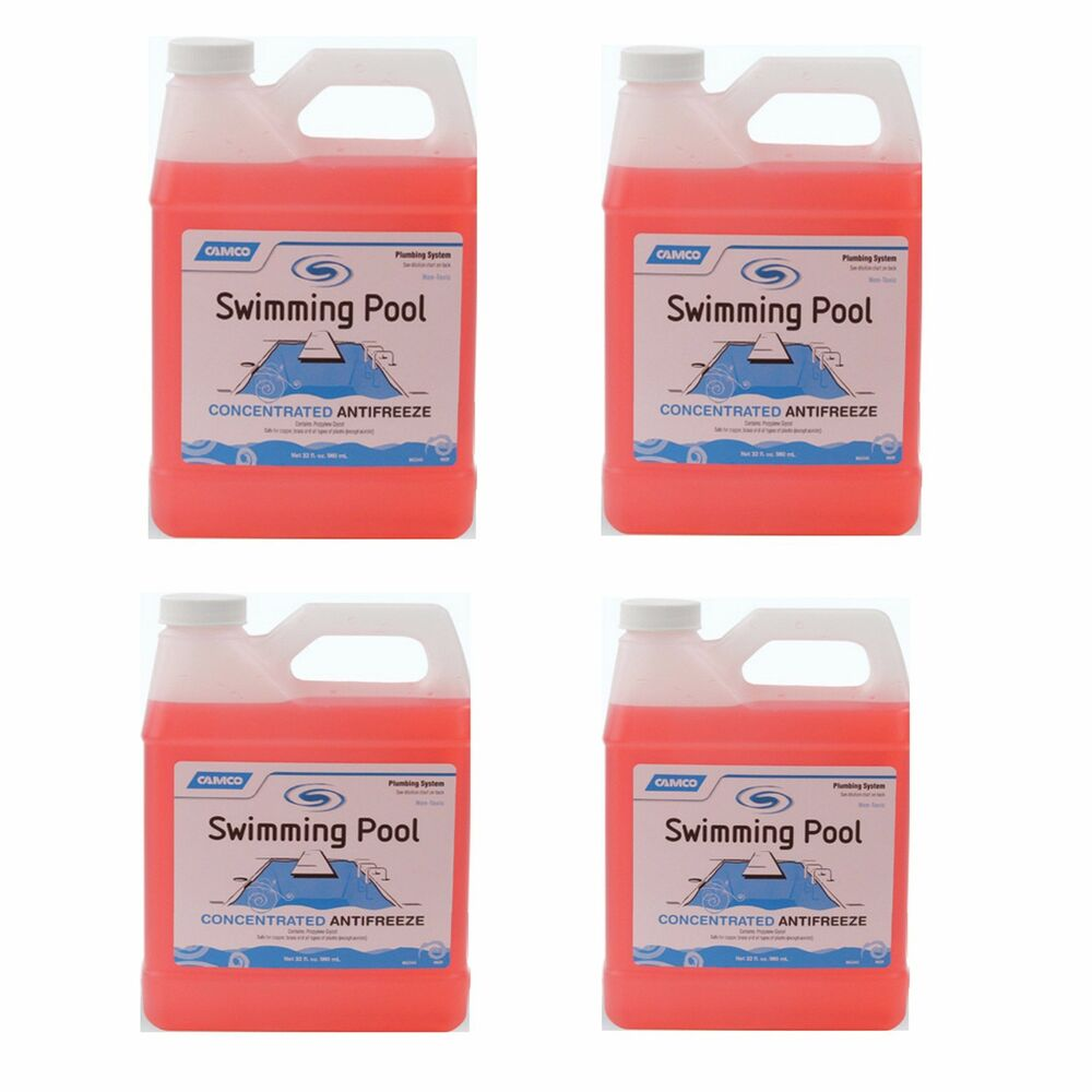 Camco Non Toxic Concentrated Swimming Pool Winter Closing Anti Freeze 4 Pack Ebay