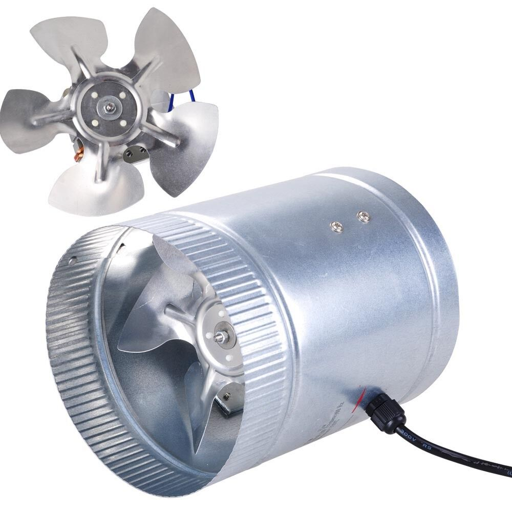 Air Duct Fan : Quot inline duct fan cfm booster exhaust blower aluminum