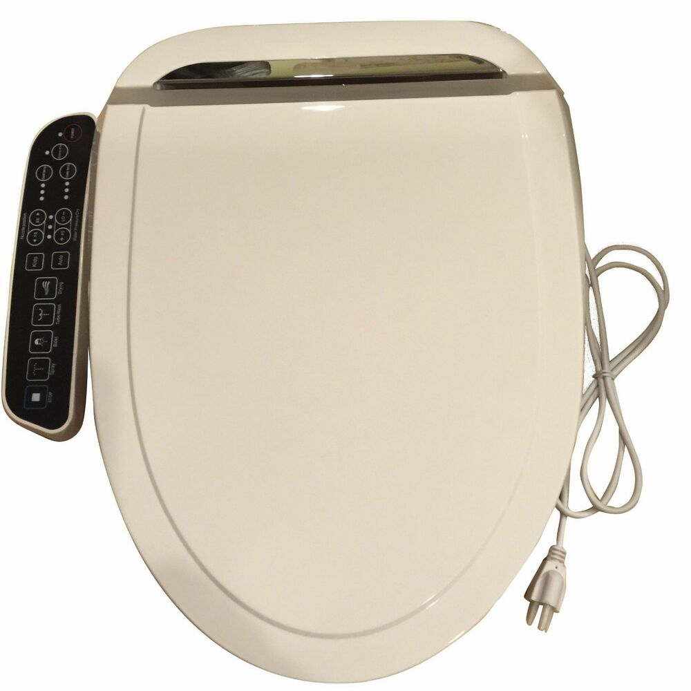 Bidet4me E 200A Electric Bidet Toilet Seat Elongated White DIY Kit Free US S