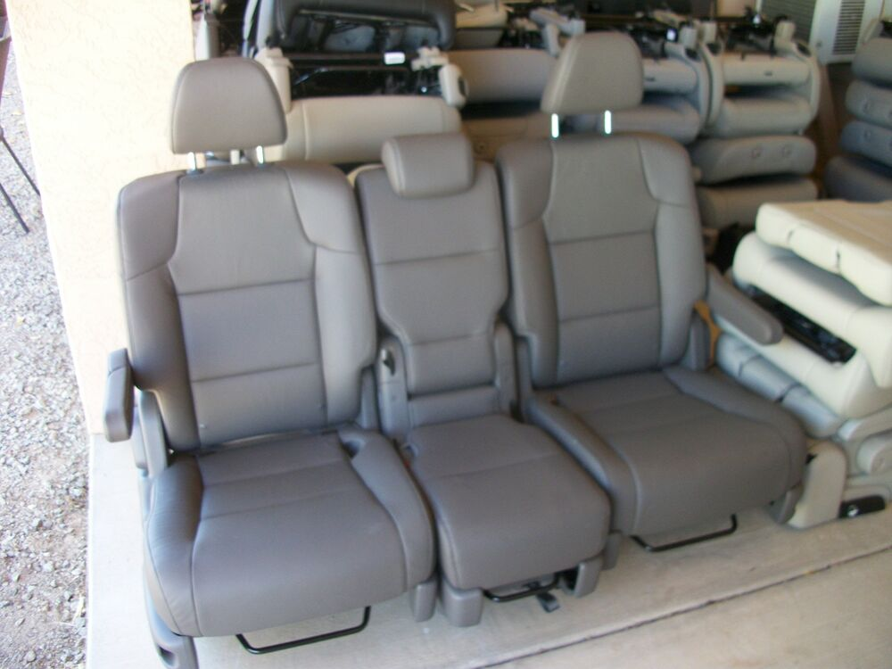 New 2 Bucket Seats Amp Middle Seat Charcoal Leather Van Bus