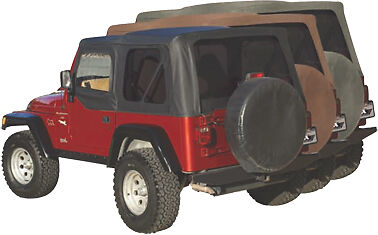 rampage factory replacement soft top 97 06 jeep wrangler tj 99535 black diamond ebay. Black Bedroom Furniture Sets. Home Design Ideas
