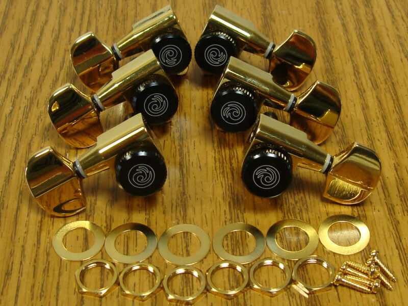 new planet waves auto trim locking gold tuners 3x3 18 1 guitar tuning pegs ebay. Black Bedroom Furniture Sets. Home Design Ideas