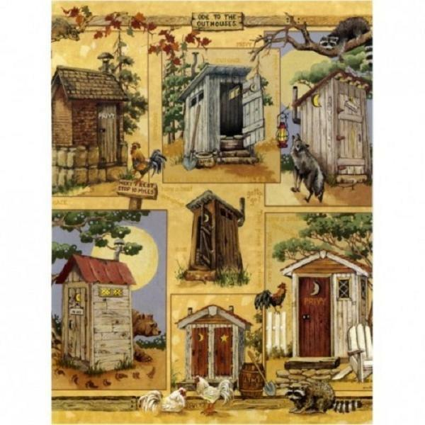 Blonder Home Ode To The Outhouse Anita Phillips Fabric