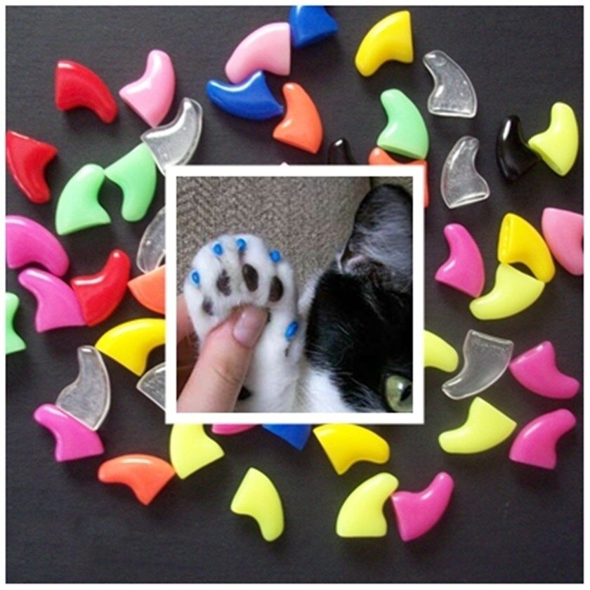 small size 20 soft nail caps for cat dog claws adhesive