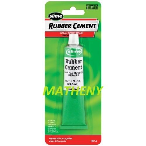 Slime Rubber Cement Tire Repair 1oz Tube Wheel Bicycle