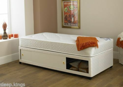 Special size short narrow divan bed choose your width for Narrow width bunk beds