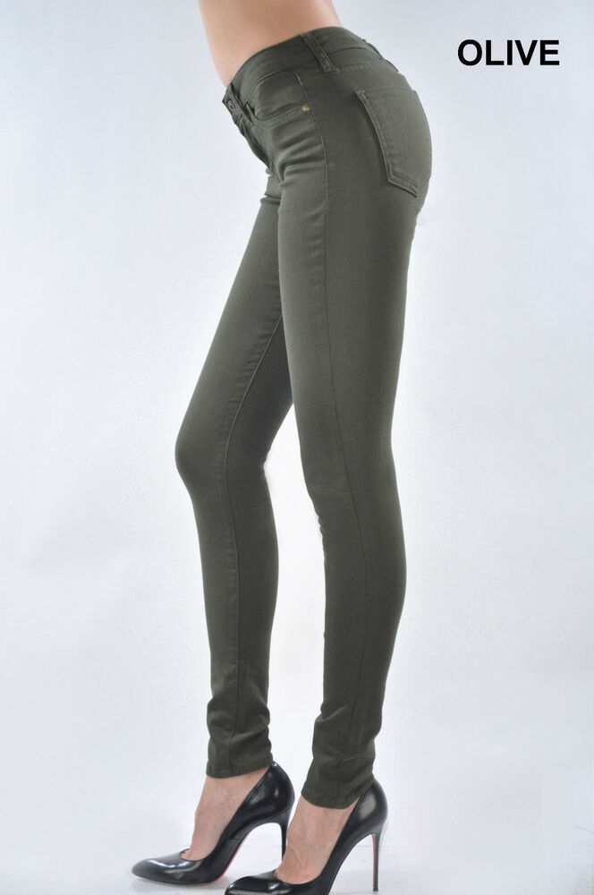 Just USA Colored Skinny jeans - Olive - Fall MUST HAVE! | eBay