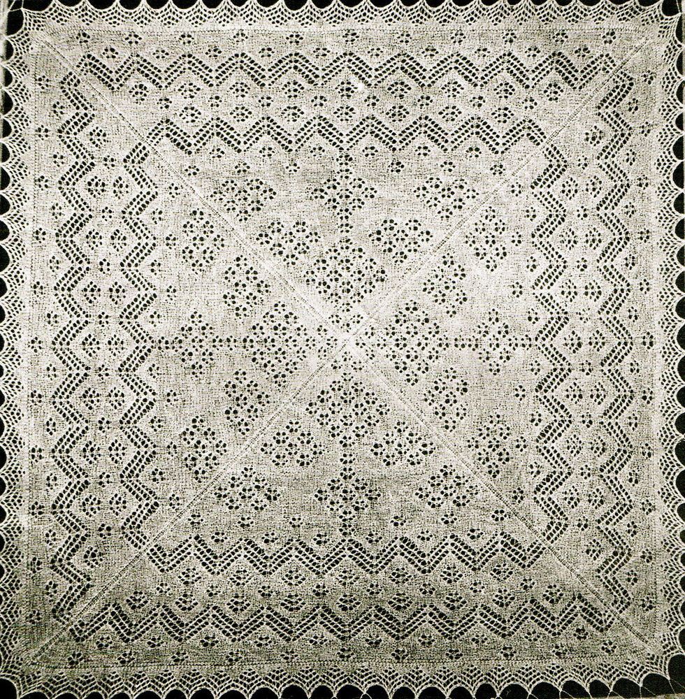 Vintage Knitting Pattern How To Make Shetland Lace Cobweb