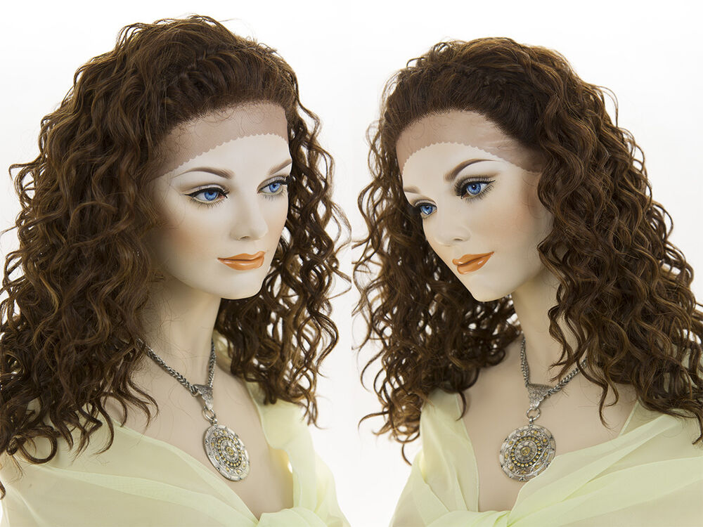 Long Lace Front Wavy Curly Brunette Red Wigs Braids