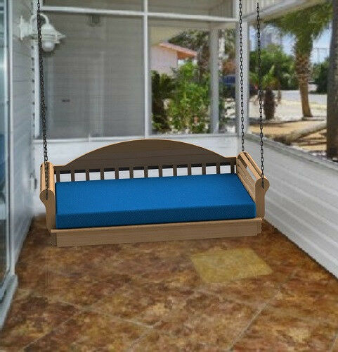Hanging porch bed full size woodworking diy plans for Diy hanging bed plans