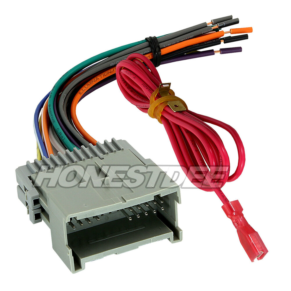 Wiring Harness Adapter For Gm Vehicles : Aftermarket car stereo radio to chevrolet wiring wire