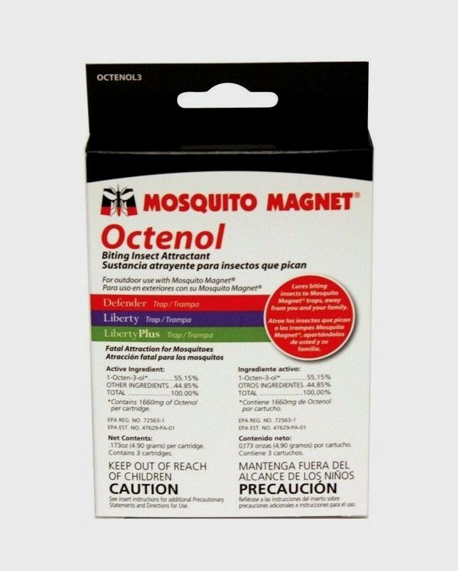 new mosquito magnet refill 3pk cartridge octenol flies insect pest 9 week supply ebay. Black Bedroom Furniture Sets. Home Design Ideas