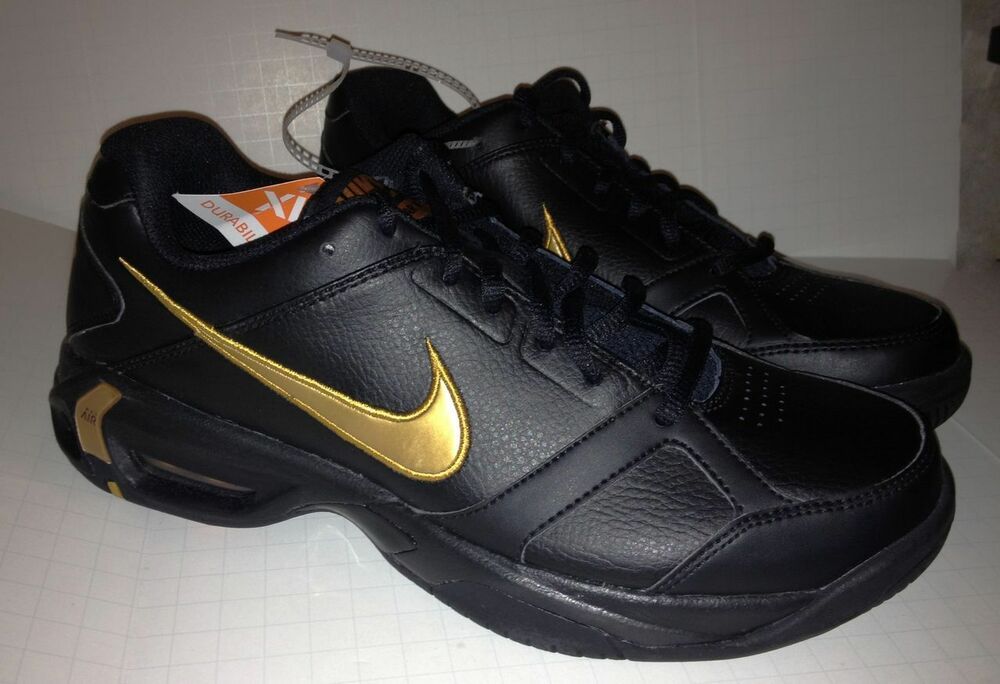 NEW Mens Sz 6.5 NIKE Air Max Court Del Mar V Black Gold ...