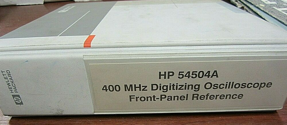 hp 54504a oscilloscope front panel reference 54504