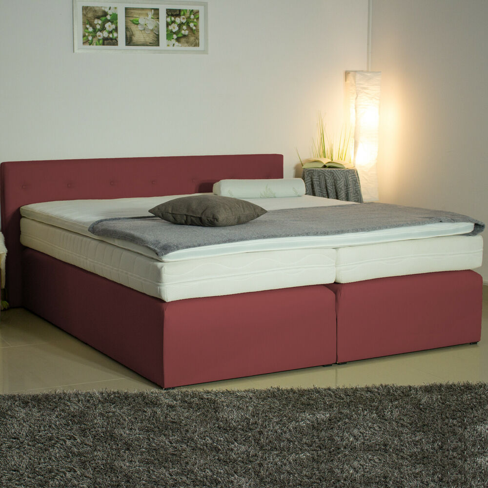 boxspringbett box 404g 100x200 120x200 140x200 160x200 180x200 200x200 ebay. Black Bedroom Furniture Sets. Home Design Ideas