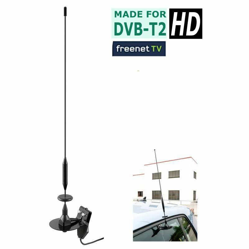 dvb t2 hd auto kfz antenne klemmantenne kombiantenne f r uhf vhf dab ebay. Black Bedroom Furniture Sets. Home Design Ideas