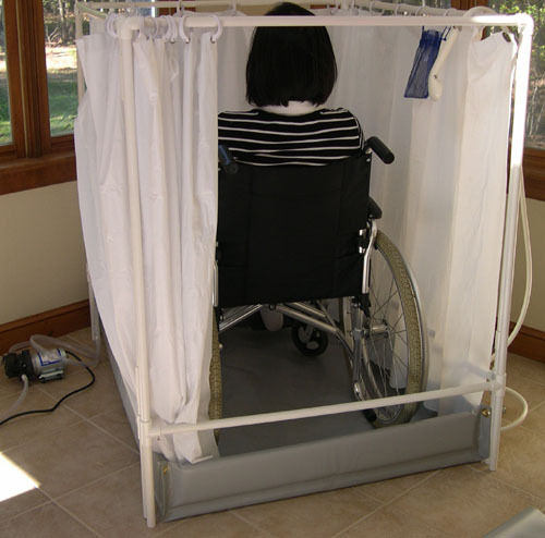 Portable shower wheelchair accessible showers for How to build a wheelchair accessible shower
