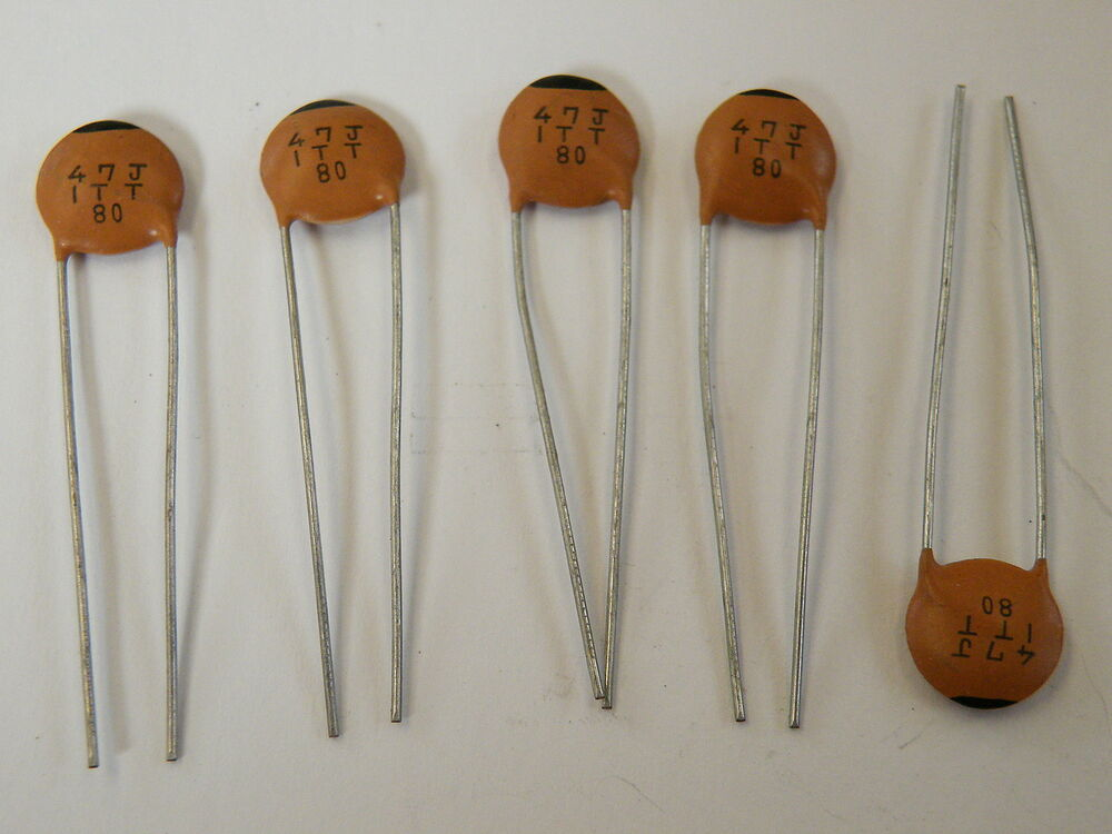 Ceramic disc capacitor pf npo v temp stable for