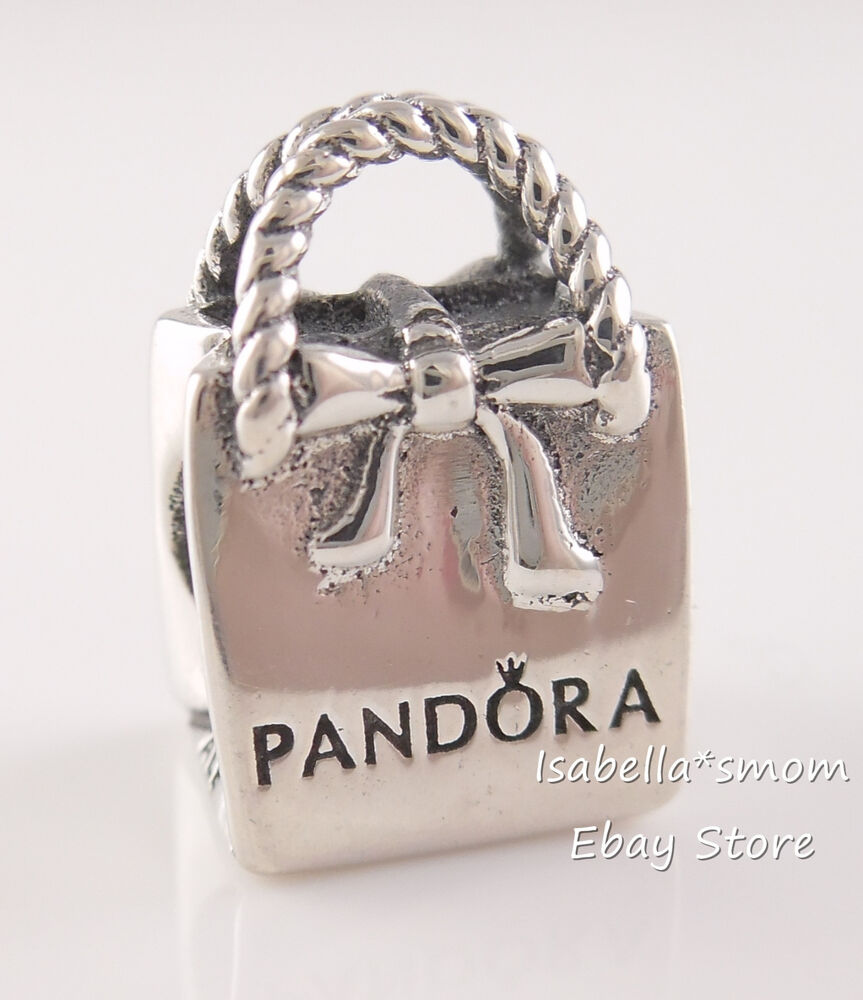 New 100  Authentic Pandora Logo Shopping Bag Sterling