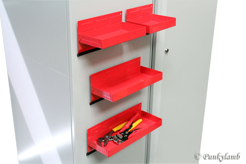 4pc magnetic toolbox tray set tool box cabinet side garage for 4 box garage