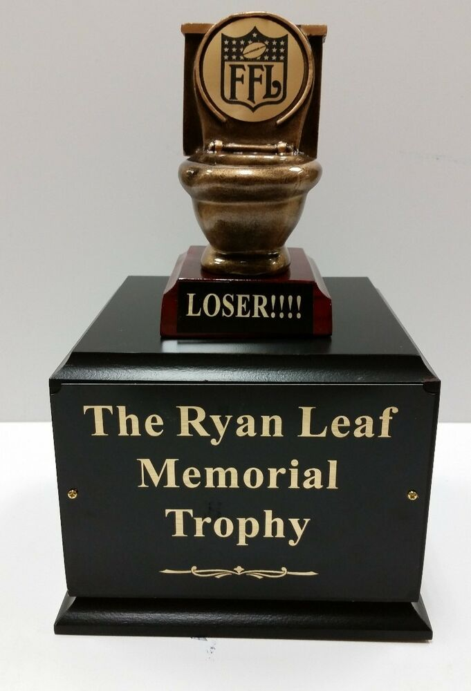 last place fantasy football perpetual toilet trophy 6