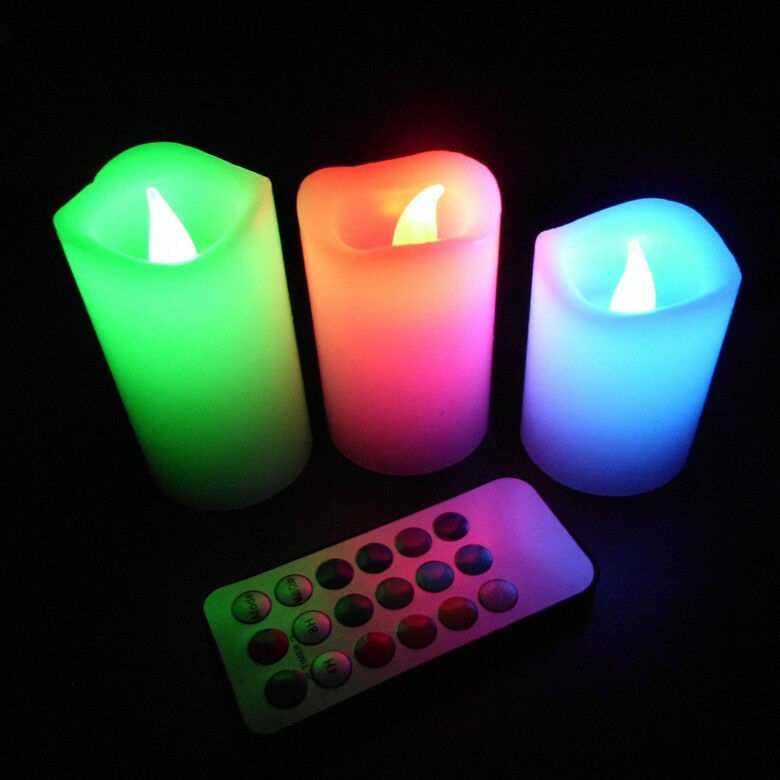 Romantic Flameless Candles Led Light With Remote Color