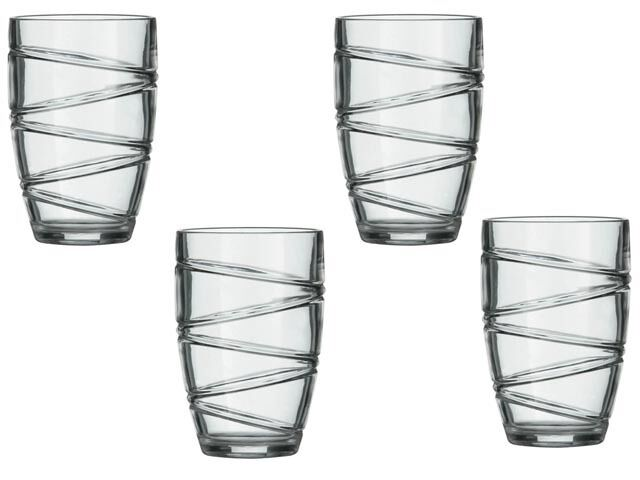 Large deluxe strong plastic acrylic tumbler glasses set of for How strong is acrylic glass