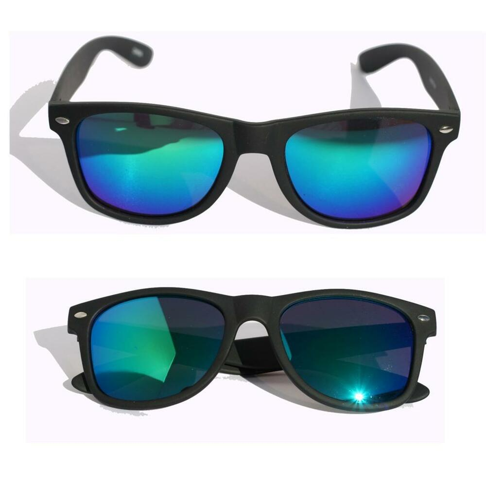 Matte soft rubberized sunglasses with mirror lens 80's ...