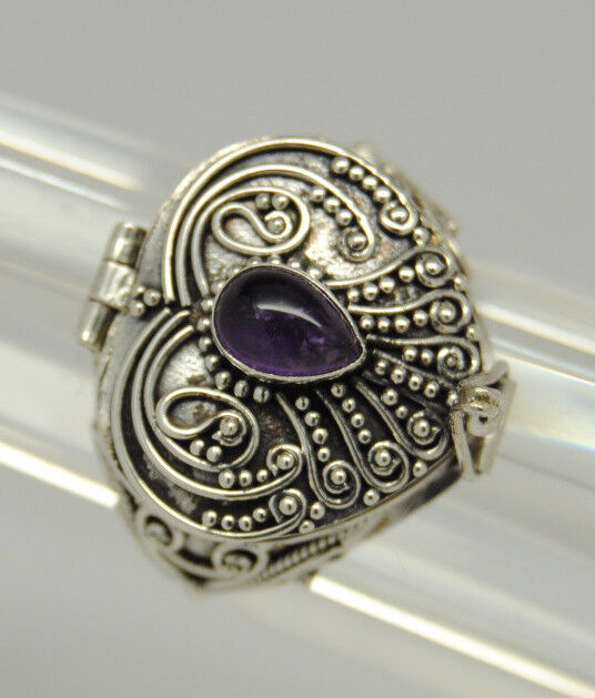 cremation urn ring amethyst silver cremation jewelry