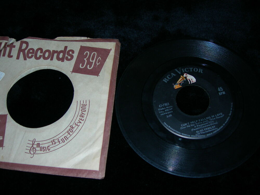 Antique vintage elvis presley rca victor record label 45 for Classic house record labels