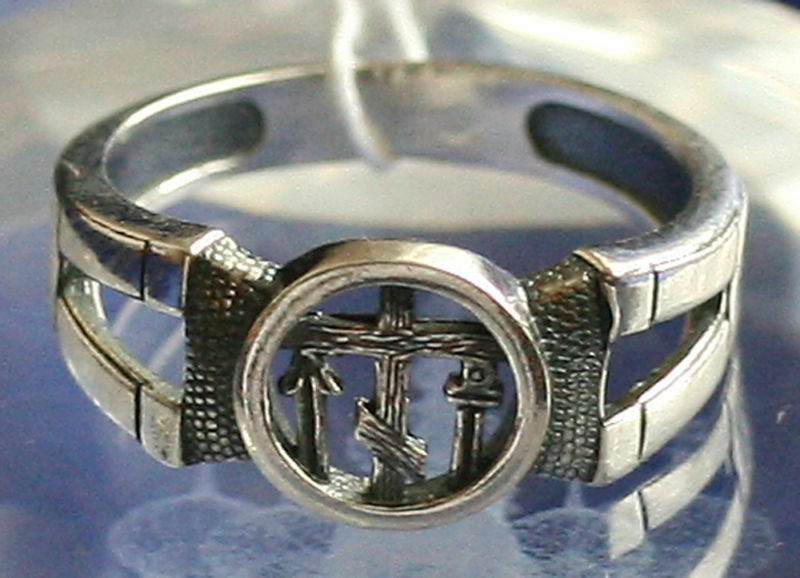 xvii c style russian orthodox silver ring w cross new
