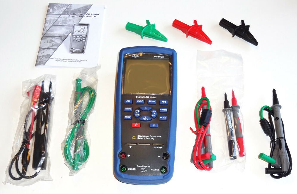 4 Wire Ohmmeter : Dt lcr meter kelvin wire ohm inductance capacitance