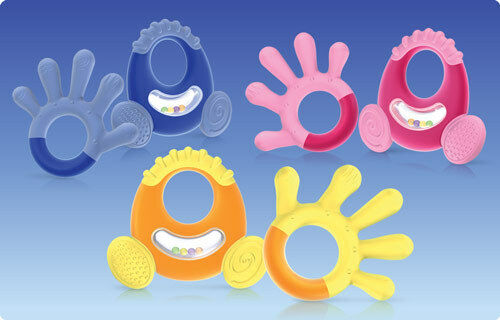 Nuby Natural Touch Softees Baby Infant Teether Step 3 Back
