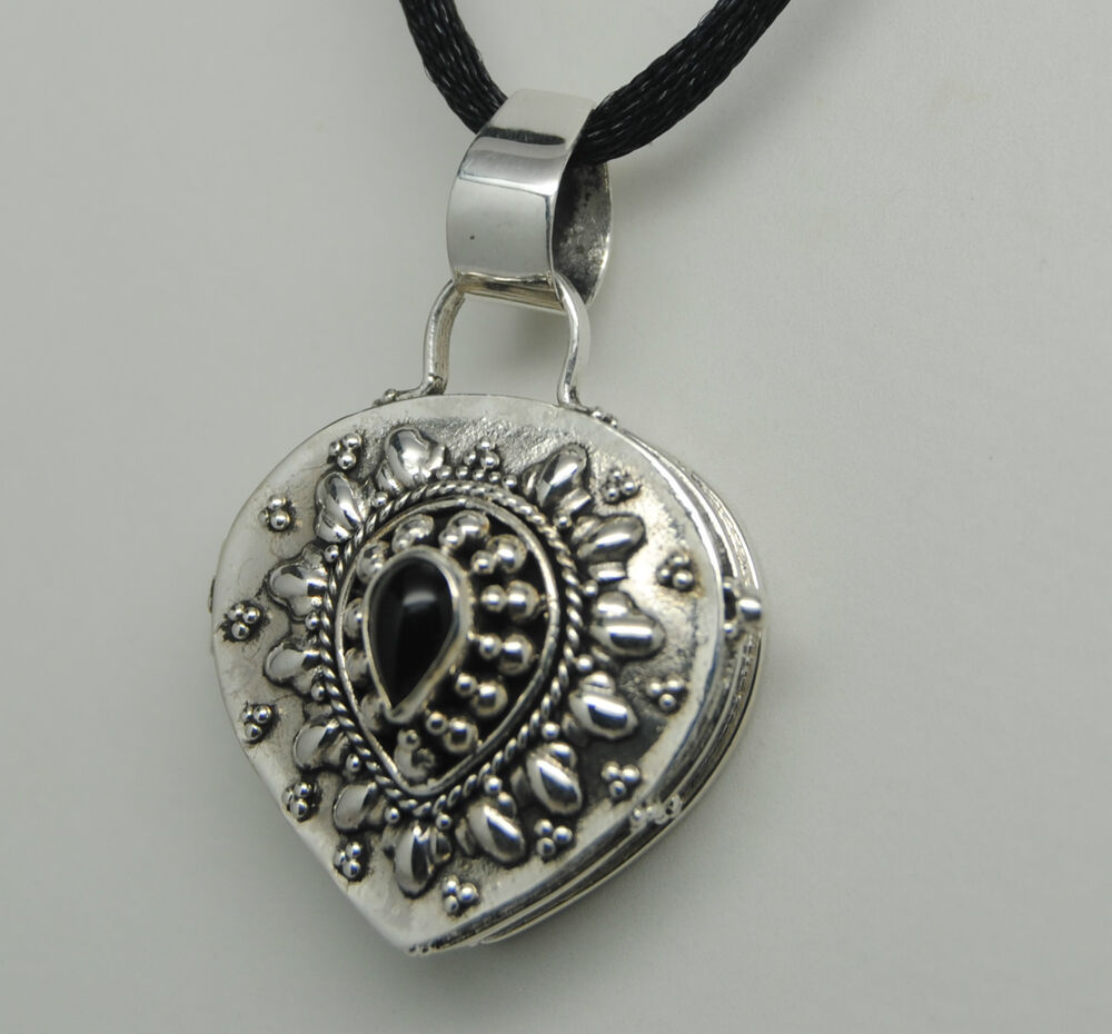 cremation urn necklace black onyx silver cremation