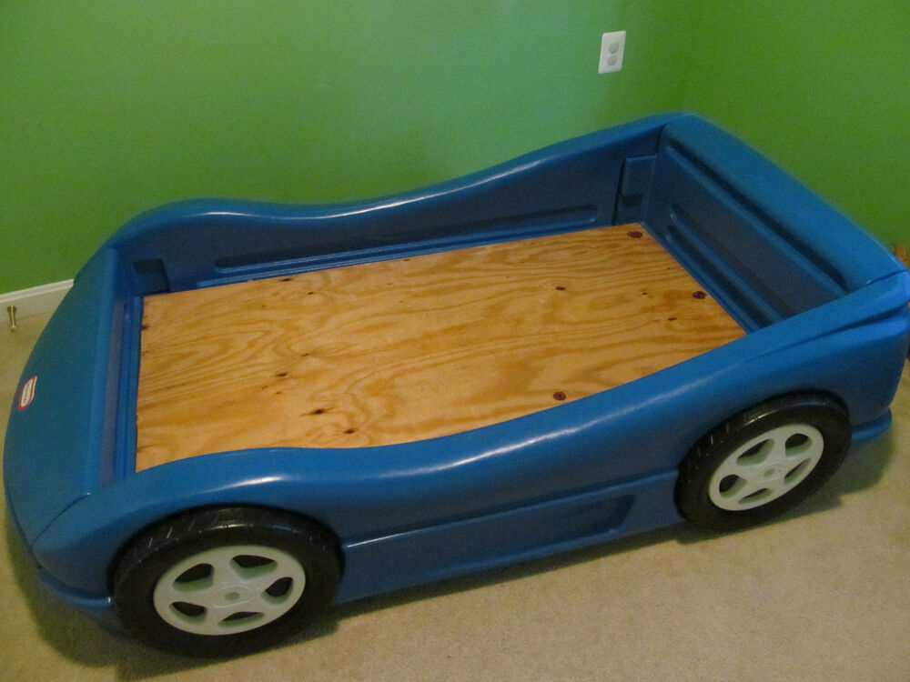 Little Tikes Blue Car Bed: Little Tikes Blue Race Car Bed Crib Toddler Bed Size